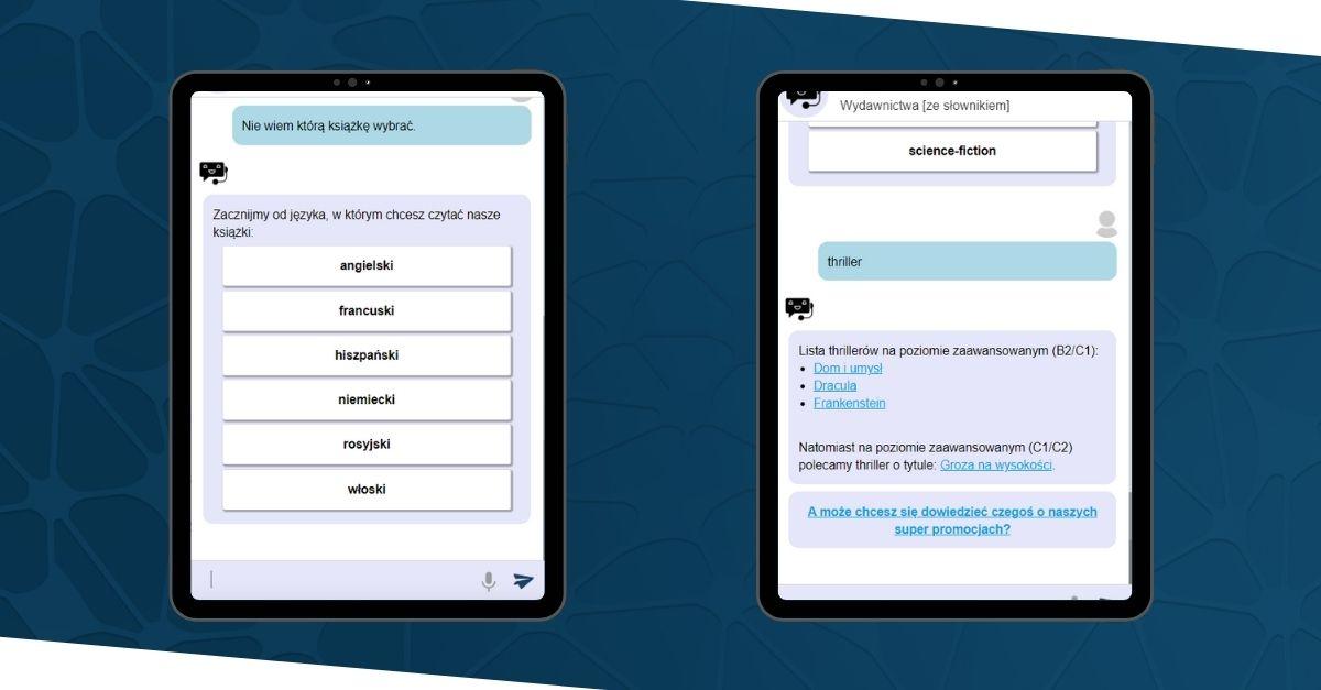 obsługa klienta chatbot w wydawnictwie